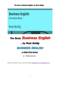 비지니스 영어.The Book, Business English, by Rose Buhlig