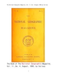 1890년도 내셔널지오그래픽잡지의 한국및 한국인 언어 외.The National Geographic Magazine, Vol. II.,No.