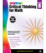 Spectrum Critical Thinking for Math Grade. 8