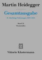 Martin Heidegger, Parmenides (Wintersemester 1942/43)