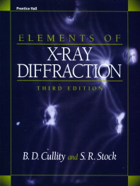 Elements of X Ray Diffraction(3판)(Paperback)