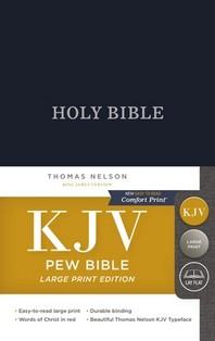 KJV, Pew Bible, Large Print, Hardcover, Blue, Red Letter Edition