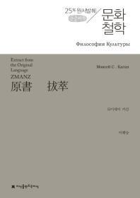 문화 철학(큰글씨책)