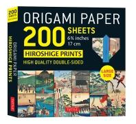 """[해외]Origami Paper 200 Sheets Hiroshige Prints 6 3/4"""" (17 CM)"""