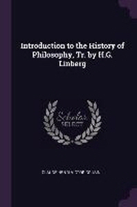 [해외]Introduction to the History of Philosophy, Tr. by H.G. Linberg (Paperback)