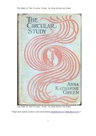 써쿨라스터디,순환논리의 연구.The Book of The Circular Study, by Anna Katharine Green