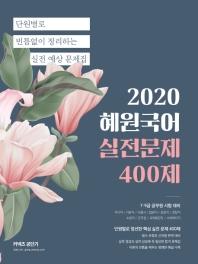 혜원국어 실전문제 400제(2020)(커넥츠 공단기)