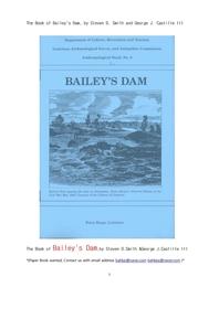 미국남부의 베이레이 땜.The Book of Bailey's Dam, by Steven D. Smith and George J. Castille III