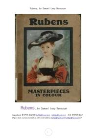 화가 루벤스.Rubens, by Samuel Levy Bensusan