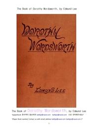 도로시 워드워스.The Book of Dorothy Wordsworth, by Edmund Lee