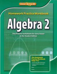 [해외]Algebra 2 Homework Practice Workbook