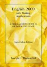 English 2600 : With Writing Applications : A Programmed Course in Grammar and Usage