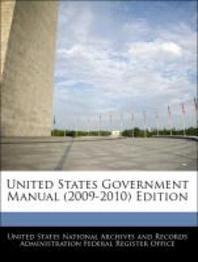[해외]United States Government Manual (2009-2010) Edition (Paperback)