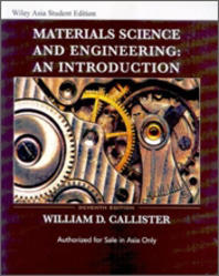 Materials Science and Engineering: an Introduction 7/E #