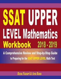 [해외]SSAT Upper Level Mathematics Workbook 2018 - 2019 (Paperback)