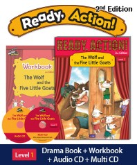 Ready Action. 1: The Wolf and the Five Little Goats(SB+WB+CDs)(2판)(CD2장포함)(Ready Action Level 1)