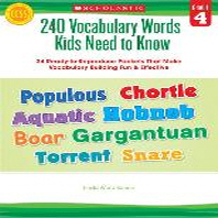 [해외]240 Vocabulary Words Kids Need to Know