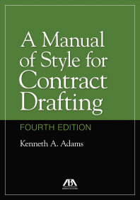 [해외]A Manual of Style for Contract Drafting