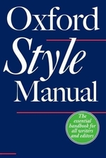 Oxford Style Manual