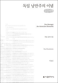 독일 낭만주의 이념(큰글씨책)(지식을만드는지식 수필비평선집)