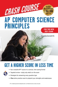 [해외]Ap(r) Computer Science Principles Crash Course, for the 2021 Exam, 2nd Ed., Book + Online
