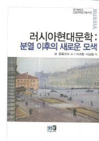 러시아현대문학 (분열 이후의 새로운 모색)(대구대학교 인문과학연구총서 18)