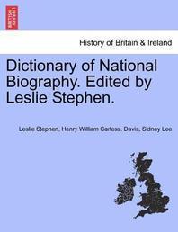 [해외]Dictionary of National Biography. Edited by Leslie Stephen. Vol. LII (Paperback)