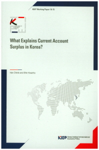 What Explains Current Account Surplus in Korea?(KIEP Working Paper 16-15)