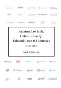 [해외]Antitrust Law in the Online Economy