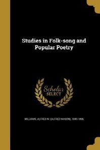 [해외]Studies in Folk-Song and Popular Poetry (Paperback)