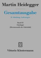 Martin Heidegger, Ontologie. Hermeneutik Der Faktizitat