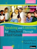 Speaking and Listening for Preschool Through Third Grade [With DVD]