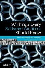 [해외]97 Things Every Software Architect Should Know (Paperback)