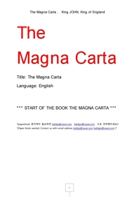 대헌장.마그나카르타. The Magna Carta , King JOHN, King of England