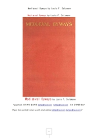 유럽중세의 사소한 부문.Mediæval Byways by Louis F. Salzmann