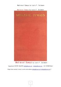 유럽중세의 사소한 부문.Mediæval Byways by Louis F. Salzmann