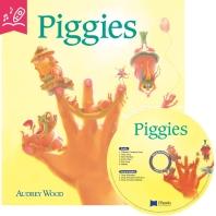 노부영 송 애니메이션 세이펜 Piggies (원서 & CD)