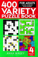 400 Variety Puzzle Books for Adults