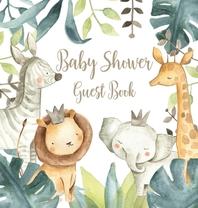 [해외]Safari Baby Shower Guest Book (Hardcover)