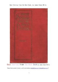 성경 바이블로부터 가장좋은 이야기책.Best Stories from the Best Book, by James Edson White