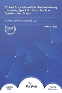 [해외]ACAMS Association of Certified Anti-Money Laundering Specialists Exam Practice Questions And Dumps