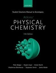 [해외]Student Solutions Manual to Accompany Atkins' Physical Chemistry 11th Edition