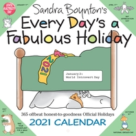 [해외]Sandra Boynton's Every Day's a Fabulous Holiday 2021 Wall Calendar