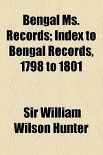 Index to Bengal Records, 1798 to 1801 Volume 3