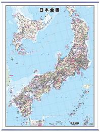 일본전도(코팅표구)