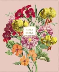 [해외]Niv, Artisan Collection Bible, Leathersoft, Blush Floral, Red Letter Edition, Comfort Print