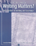 Writing Matters(Instructor's Manual)