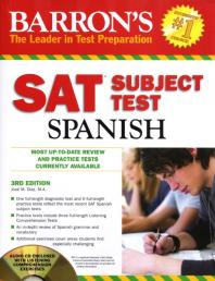 SAT Subject Test Spanish (CD 1장포함)