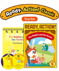 Pack-Ready Action Classic (Starter): The Rabbit and the Turtle[SB+WB+CD]