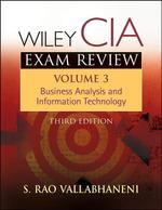 Wiley CIA Exam Review 3/E, vol.3 : Business Analysis and Information Technology